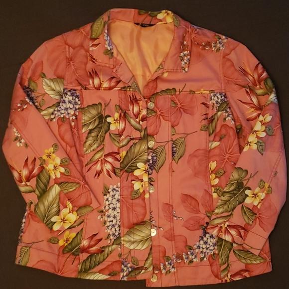 Lite Weight Floral Jacket